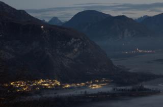 Luci nella notte_Damiano Cristofoli- panoramica di Forgaria